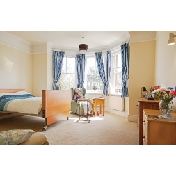 Maesbrook Elderly Care Home Bedroom in Shrewsbury, Shropshire